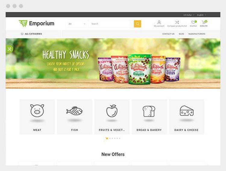 Nopcommer Emporium Supermarket Responsive Theme