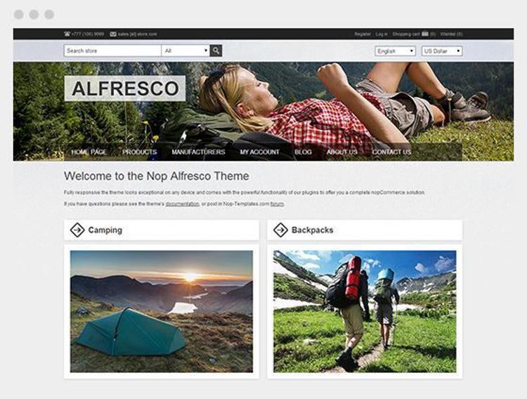 Nopcommerce Alfresco Responsive Theme