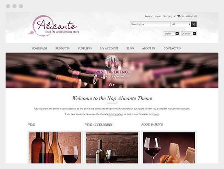 Nopcommerce Alicante Responsive Theme