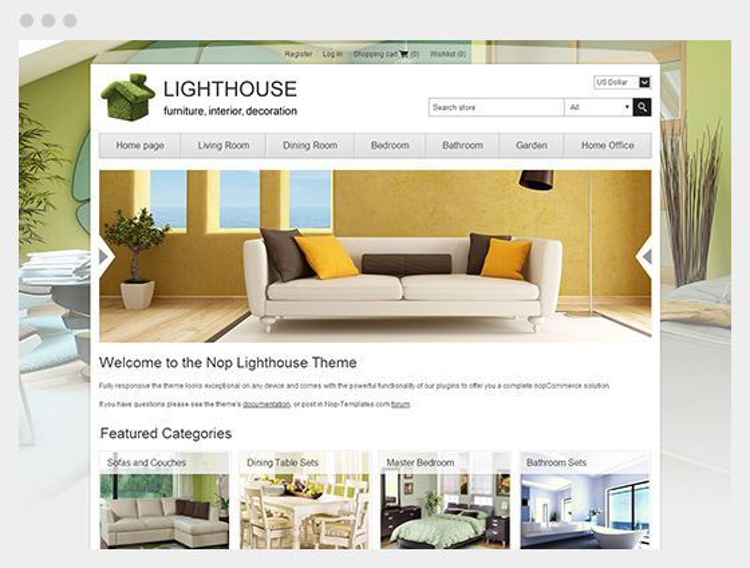 Nopcommerce Lighthouse Responsive Theme