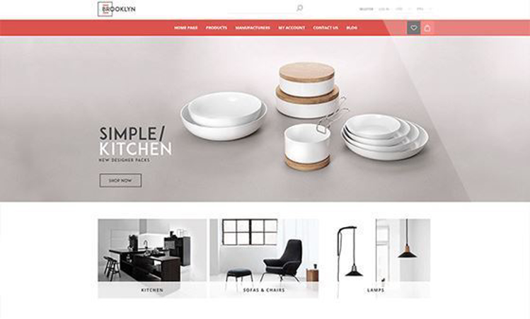 Nopcommerce Brooklyn Interior Responsive Theme