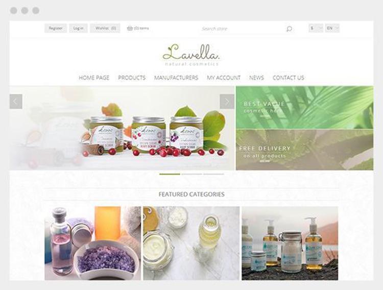 Nopcommerce Lavella Responsive Theme