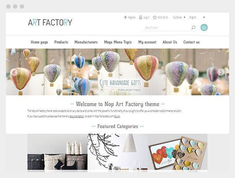 Nopcommerce Artfactory Responsive Theme