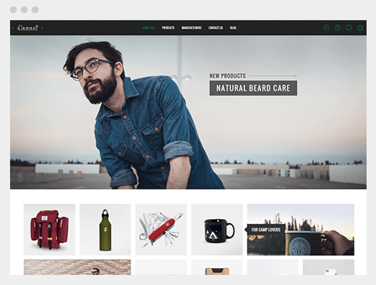 Nopcommerce Element Earth Responsive Theme