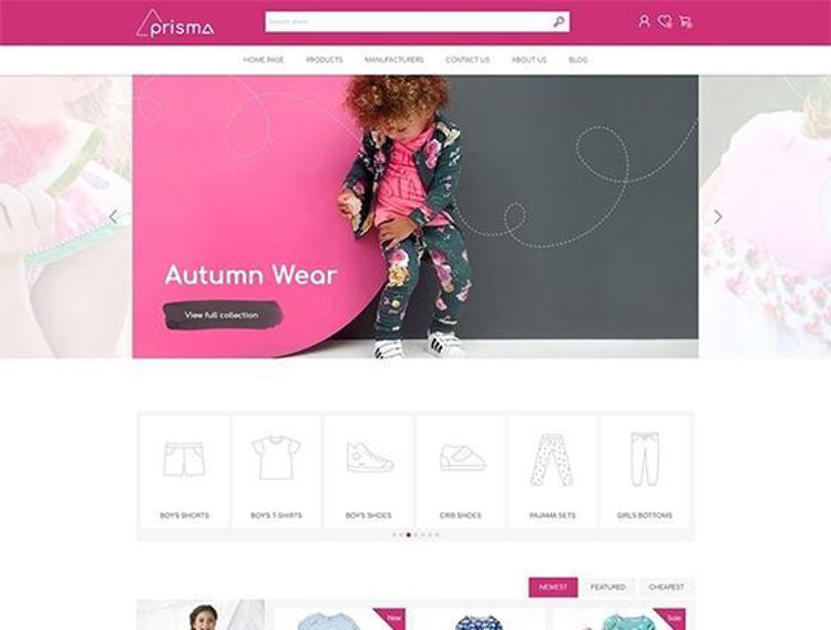 Nopcommerce Prisma Baby Responsive Theme