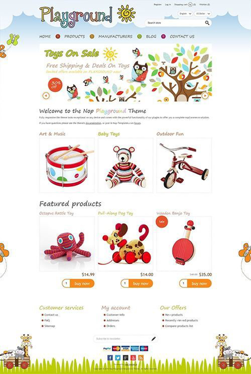 Nopcommerce Playround Responsive Theme