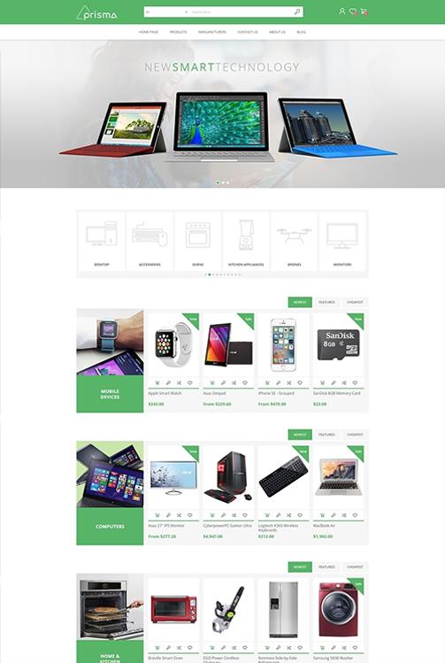 Nopcommerce Prisma Electronics Responsive Theme