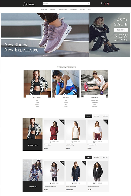 Nopcommerce Prisma Fashion Responsive Theme