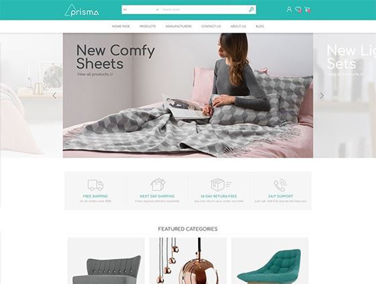 Nopcommerce Prisma Furniture Responsive Theme