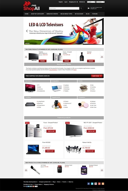 Nopcommerce ShopAll Responsive Theme