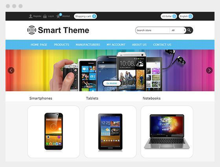 Nopcommerce Smart Responsive Theme