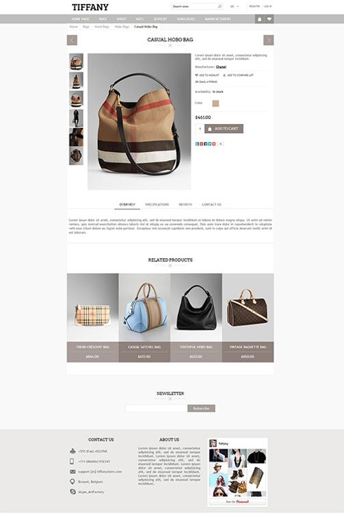 Nopcommerce Tiffany Responsive Theme