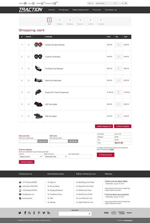 Nopcommerce Traction Responsive Theme