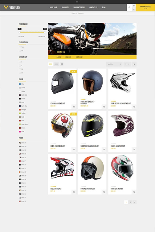Nopcommerce Venture Motorcycle Responsive Theme