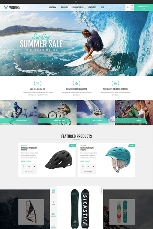 Nopcommerce Venture Outdoor Responsive Theme